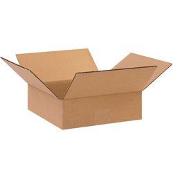 "10 x 10 x 3"" Flat Corrugated Boxes"