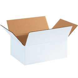 "11 3/4 x 8 3/4 x 4 3/4"" White Corrugated Boxes"