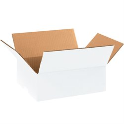 "11 1/4 x 8 3/4 x 4"" White Corrugated Boxes"