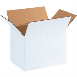 "11 3/4 x 8 3/4 x 8 3/4"" White Corrugated Boxes"