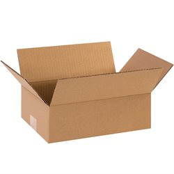 "12 x 8 x 4"" Flat Corrugated Boxes"