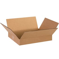 "13 x 10 x 2"" Flat Corrugated Boxes"