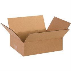 "13 x 10 x 4"" Flat Corrugated Boxes"