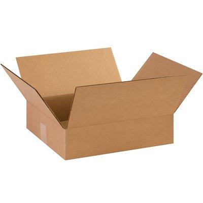 "14 3/8 x 12 1/2 x 3 1/2"" Flat Corrugated Boxes"