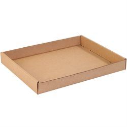"15 x 12 x 1 3/4"" Kraft Corrugated Trays"