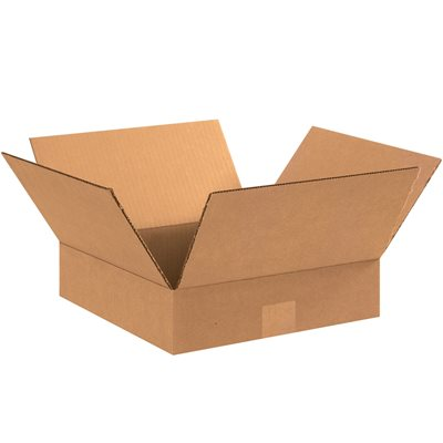 "15 x 15 x 3"" Flat Corrugated Boxes"