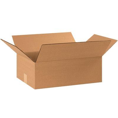 "17 1/4 x 11 1/4 x 4"" Flat Corrugated Boxes"