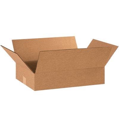 "18 x 12 x 4"" Flat Corrugated Boxes"
