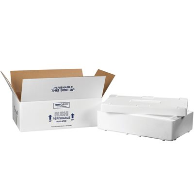 """19 1/2 x 11 1/2 x 4 1/8"""" Insulated Shipping Kit"""