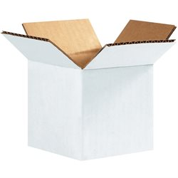 "4 x 4 x 4"" White Corrugated Boxes"