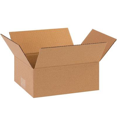 "12 x 10 x 3"" Flat Corrugated Boxes"