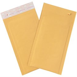 "5 x 10"" Kraft (25 Pack) #00 Self-Seal Bubble Mailers w/Tear Strip"