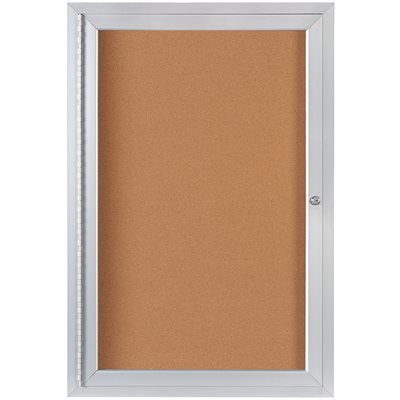 2 x 3' Enclosed Cork Board with Aluminum Frame