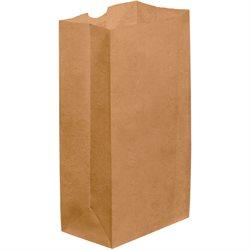 """6 x 3 5/8 x 11"""" Kraft Grocery Bags"""