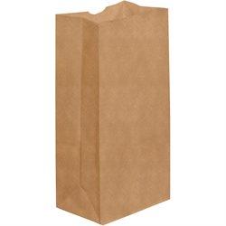 """6 5/16 x 4 1/8 x 13 3/8"""" Kraft Grocery Bags"""