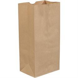 """8 1/4 x 5 1/4 x 18"""" Kraft Grocery Bags"""