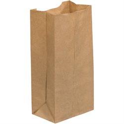 """4 5/16 x 2 7/16 x 7 7/8"""" Kraft Grocery Bags"""