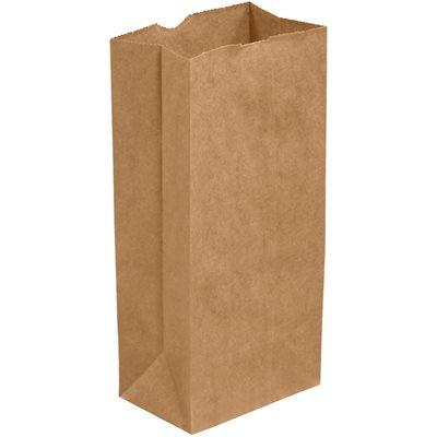 "4 3/4 x 2 5/16 x 8 9/16"" Kraft Hardware Bags"