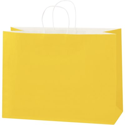 """16 x 6 x 12"""" Buttercup Tinted Shopping Bags"""
