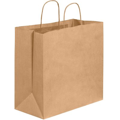 "13 x 7 x 13"" Kraft Shopping Bags"