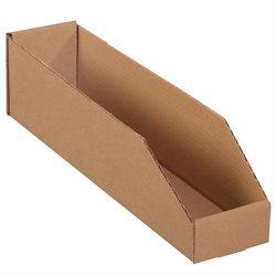 """4 x 18 x 4 1/2"""" Kraft Bin Boxes"""