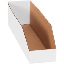 """4 x 18 x 4 1/2""""<br/White Bin Boxes"""