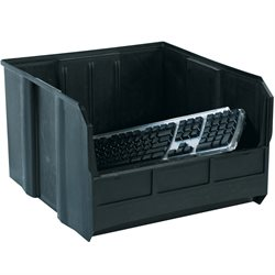 "18 x 16 1/2 x 11"" Black Conductive Bin Boxes"