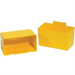 "5 1/8 x 2 3/4 x 3"" Yellow Shelf Bin Cups"