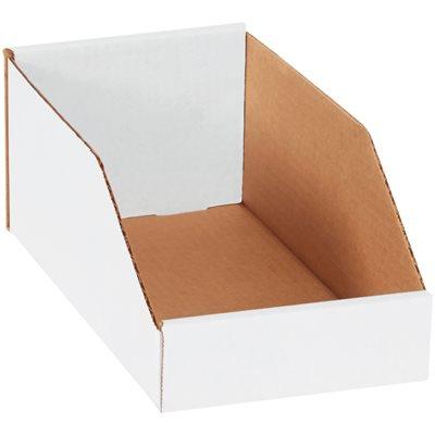 """6 x 12 x 4 1/2"""" White Bin Boxes"""