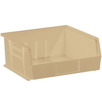 "10 7/8 x 11 x 5"" Ivory Plastic Stack & Hang Bin Boxes"