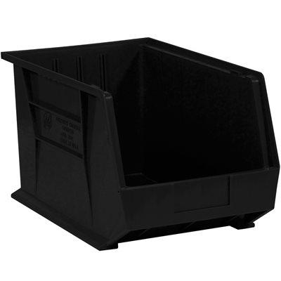 "18 x 11 x 10"" Black Plastic Stack & Hang Bin Boxes"