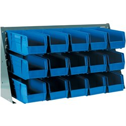 "36 x 8 x 19"" Bench Rack Bin Organizer"