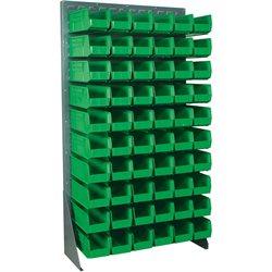 "36 x 12 1/2 x 66"" Floor Rack Bin Organizer"