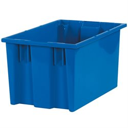 "16 x 10 x 8 7/8"" Blue Stack & Nest Containers"