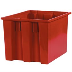 "17 x 14 1/2 x 12 7/8"" Red Stack & Nest Containers"