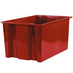"26 5/8 x 18 1/4 x 14 7/8"" Red Stack & Nest Containers"
