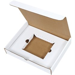 "11 1/8 x 8 3/4 x 2"" White CD Literature Mailer Kits"