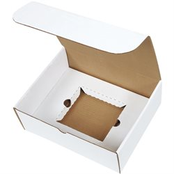 "11 1/8 x 8 3/4 x 4"" White CD Literature Mailer Kits"