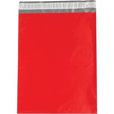 """14 1/2 x 19"""" Red Poly Mailers"""