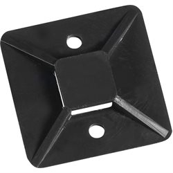 "1 1/2 x 1 1/2"" Black Cable Tie Mounts"