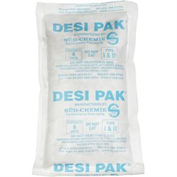 "5 x 8 x 1 1/8"" Tyvek® Clay Desiccants - 34 Gallon Drum"