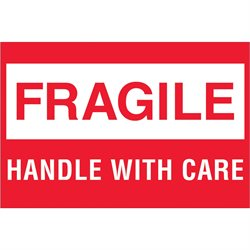 """2 x 3"""" - """"Fragile - Handle With Care"""""""