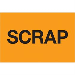 "2 x 3"" - ""Scrap"" (Fluorescent Orange) Labels"