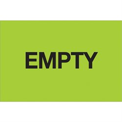 "2 x 3"" - ""Empty"" (Fluorescent Green) Labels"