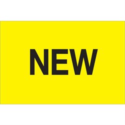 "2 x 3"" - ""New"" (Fluorescent Yellow) Labels"