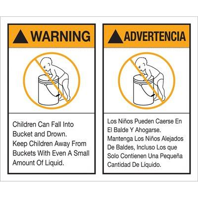"5 x 6"" - ""Warning Advertencia"" Label Set"