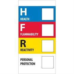 "1 x 2"" - ""Health Flammability Reactivity"""