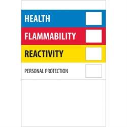 "4 x 6"" - ""Health Flammability Reactivity"""