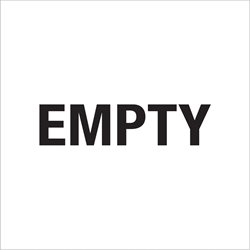 "6 x 6"" - ""Empty"" Labels"