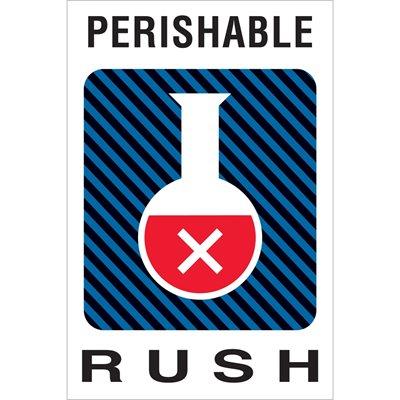 "4 x 6"" - ""Perishable Rush"" Labels"